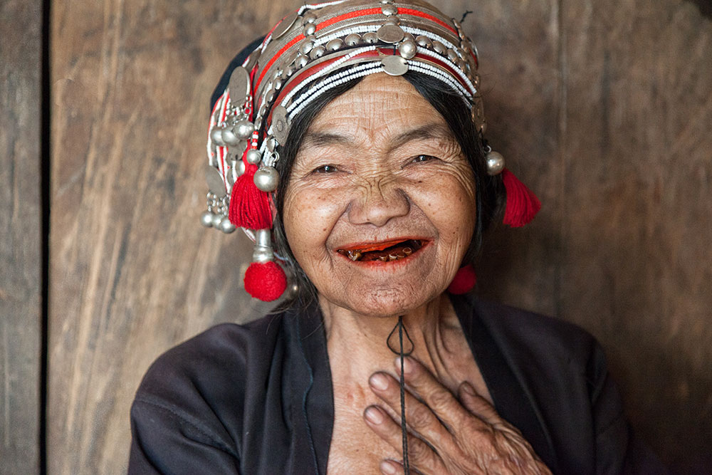 A friendly Akha woman that we met in her home.