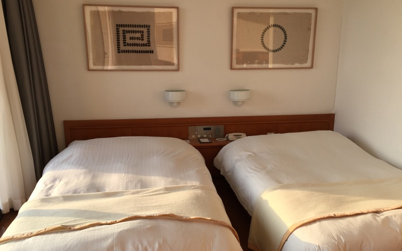 My room #402 in Oval House with original Richard Long art on the wall