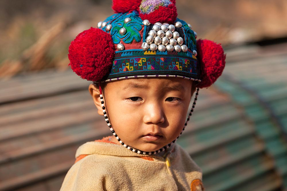 A Red Yao boy in