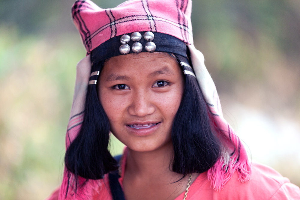 A teenage Akha Ghepia girl.
