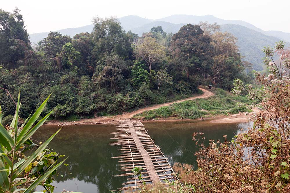 As we left Muang La for our boat to Luang Prabang, the countryside started to change and river life was more prominent.