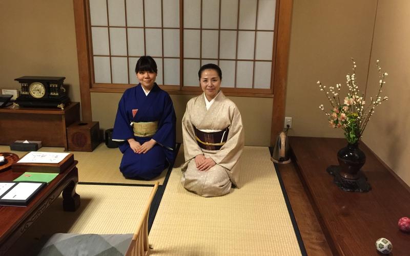 The impeccable service at Kurashiki ryokan