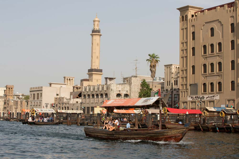"Traditional ""Abras"" transporting locals and tourists on the Dubai Creek."