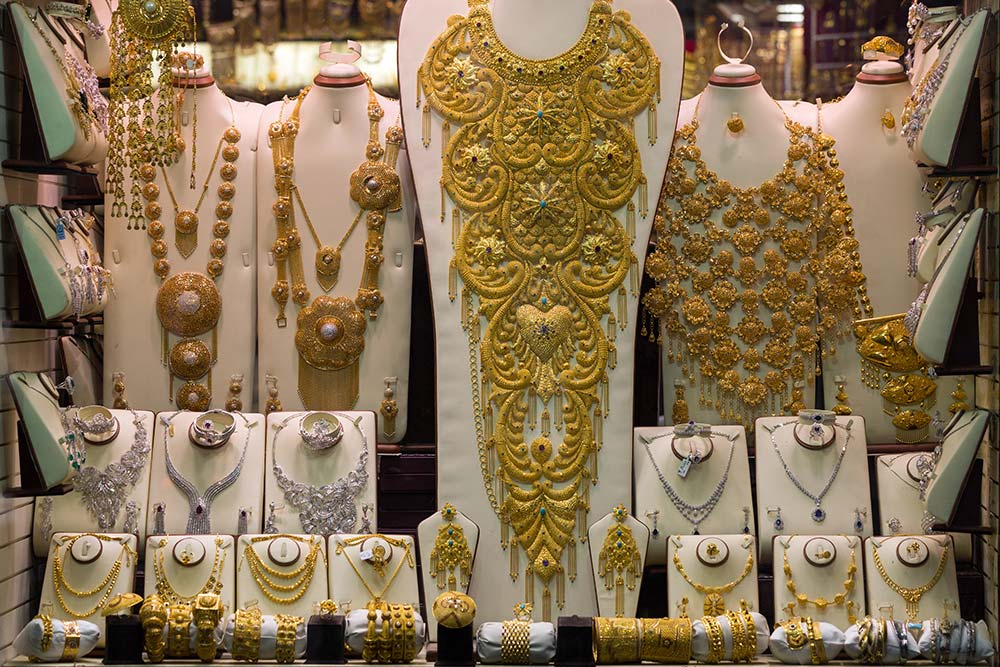 Lavish display at the Gold Souk in Dubai.