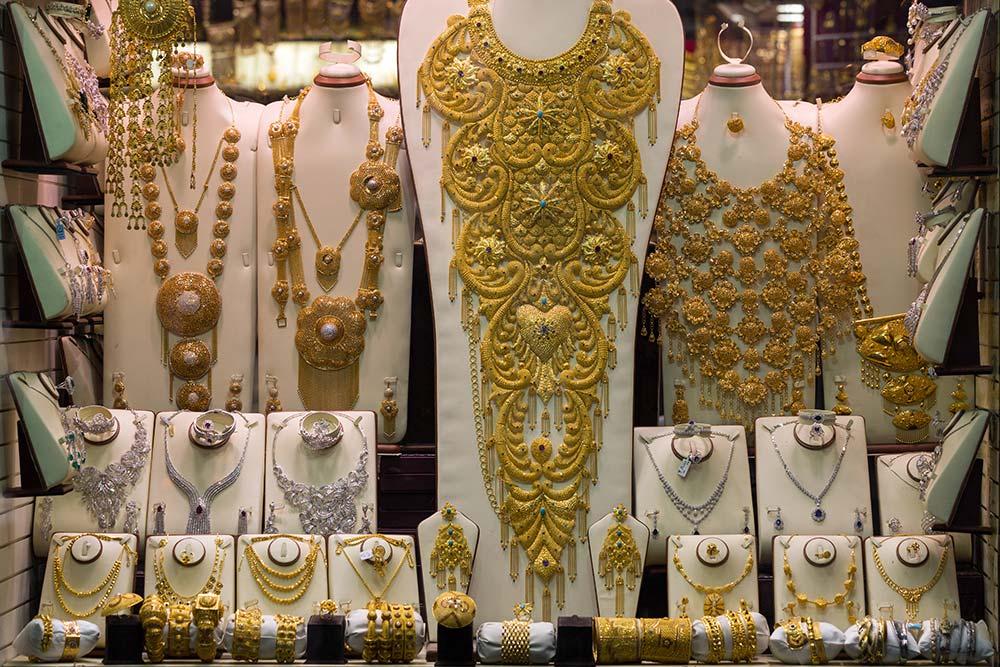 Lavish display at the Gold Souk in Dubai.