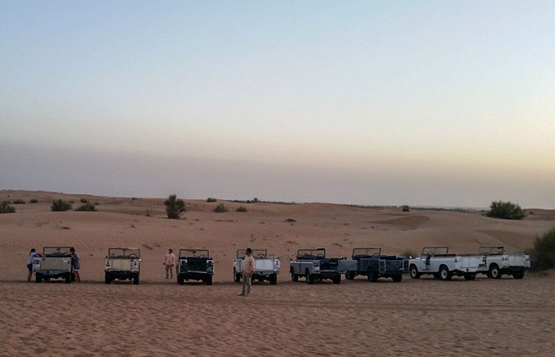 Go on a desert safari in a traditional Land Rover