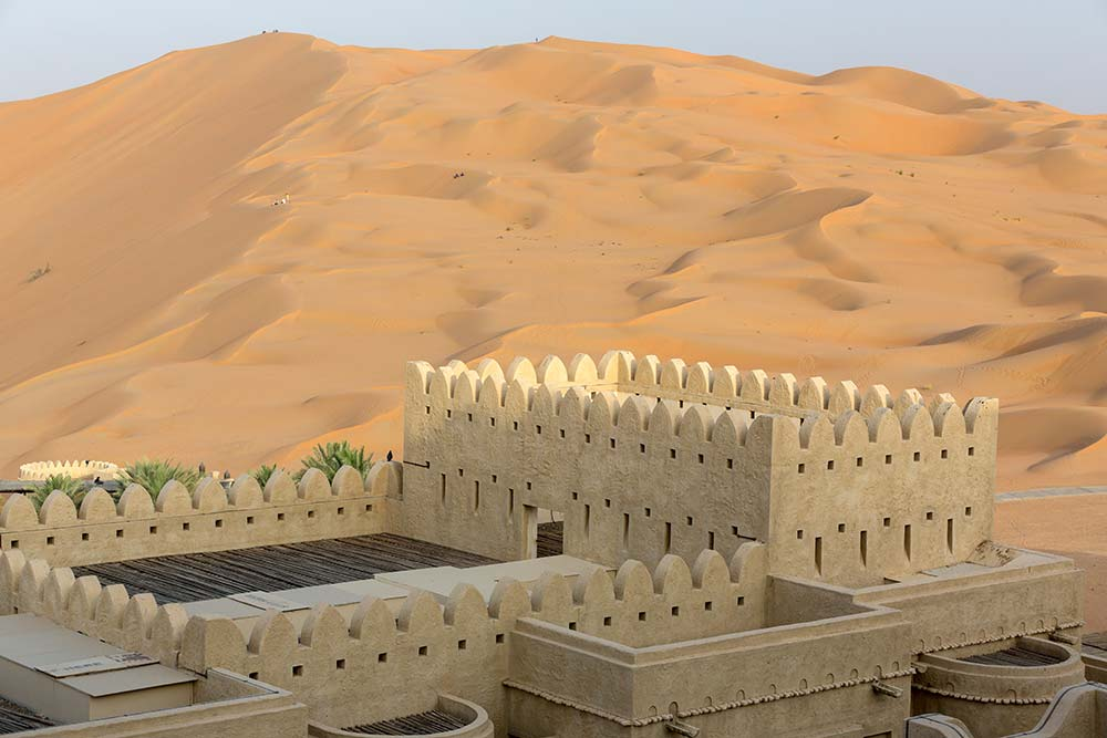 The amazing view from my balcony at the Qasr Al Sarab Desert Resort by Anantara.