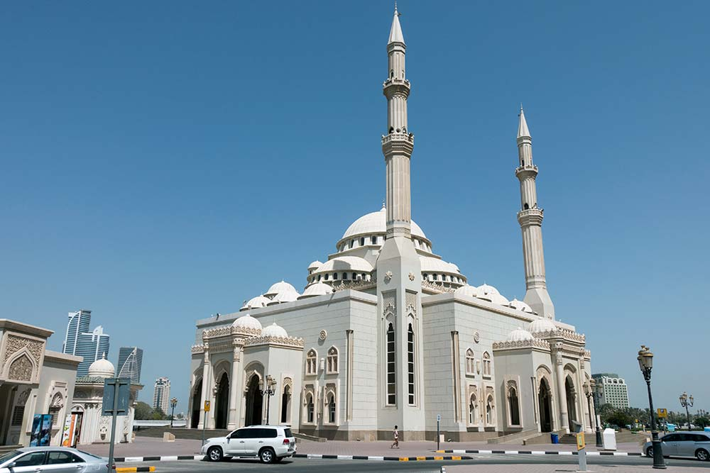 Al Noor mosque in Sharjah