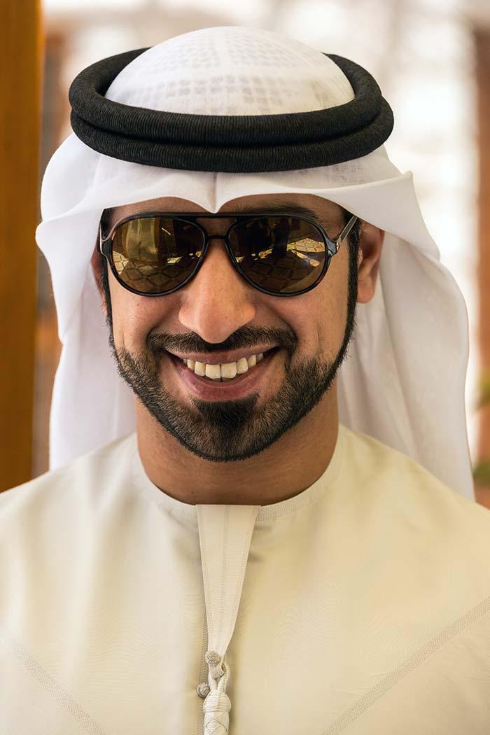 A friendly Emirati man in Sharjah.