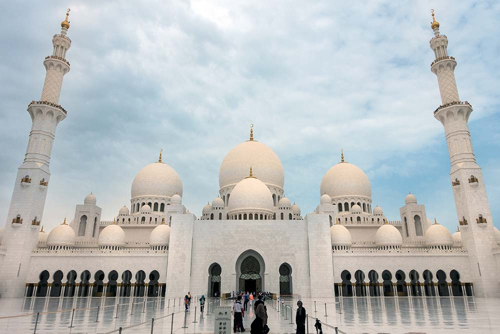 The Sheikh Zayed Mosque is Abu Dhabi's most iconic landmark.