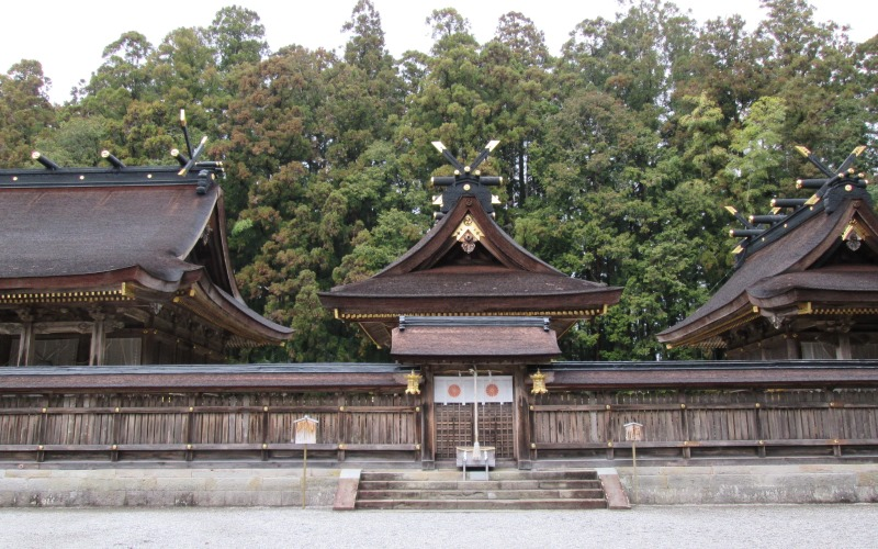 Shrine in the Kumano Hongu trail