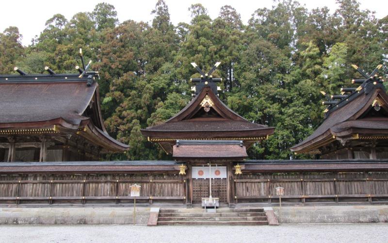 Shrine in the Kumano Hongu trail