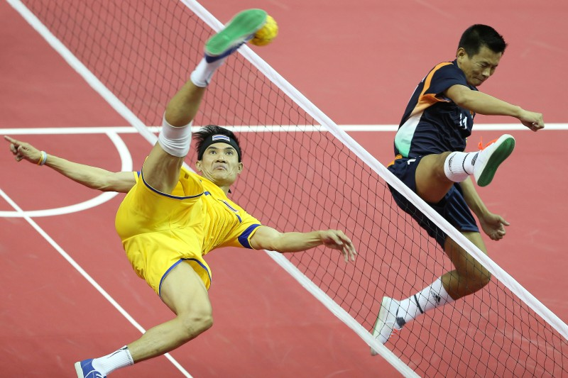 Sepak Takraw is a mix of volleyball, football...and ballet!