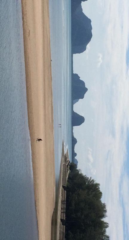 Trang beach scene