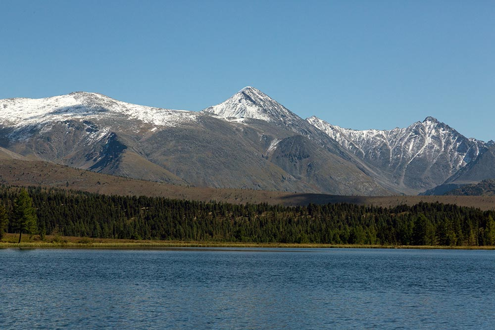 We had beautiful views of snow capped mountains at Abchidon Lake.