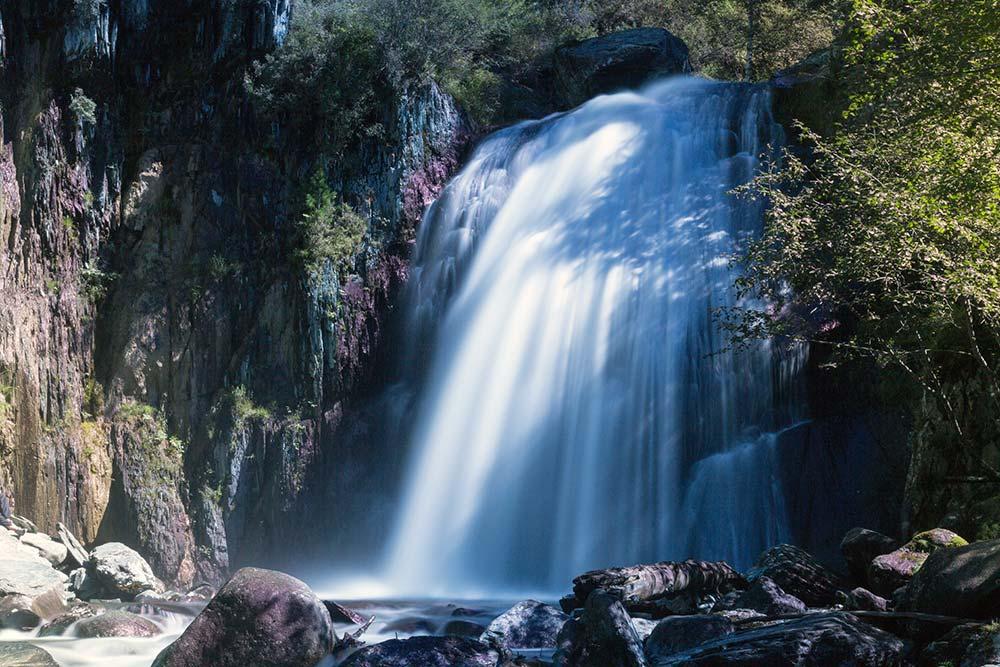 Korbu waterfall, in the Altai State Nature Biosphere Reserve