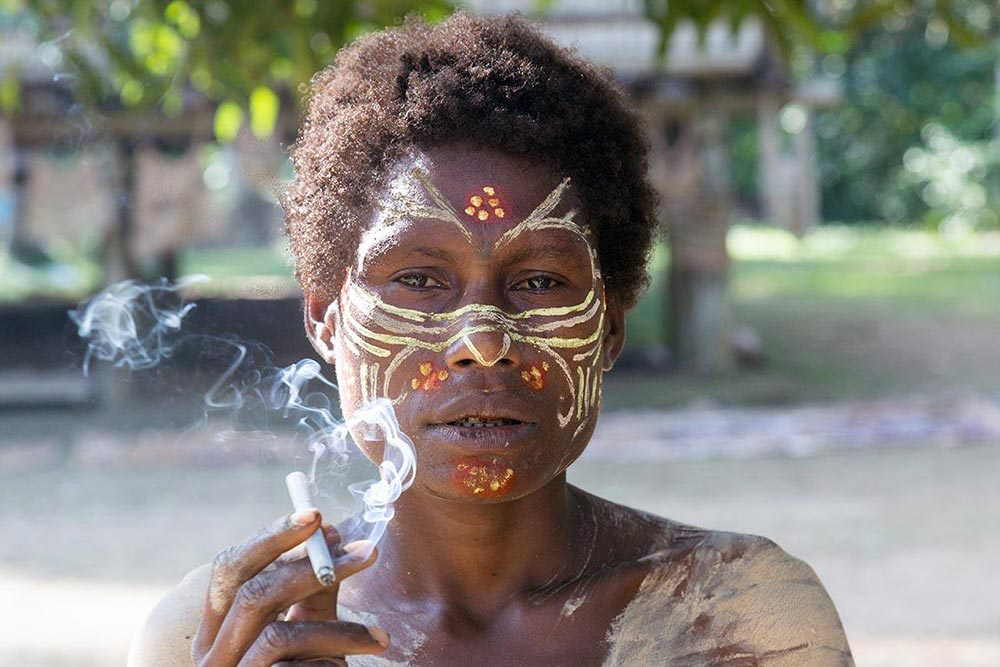 The woman I encountered in the Karawari region were all avid smokers.