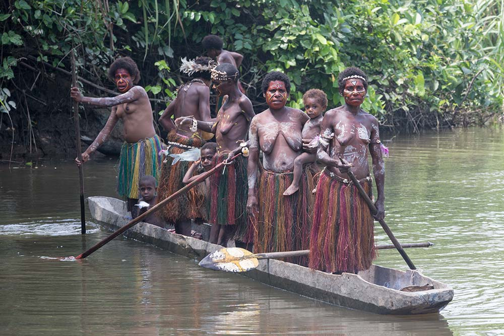 We were met at Yimas village by a group of women who were fishing on the river.