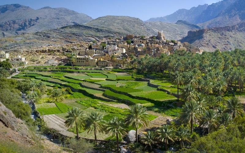 Stunning landscapes at Bilad Sayt Village, Oman