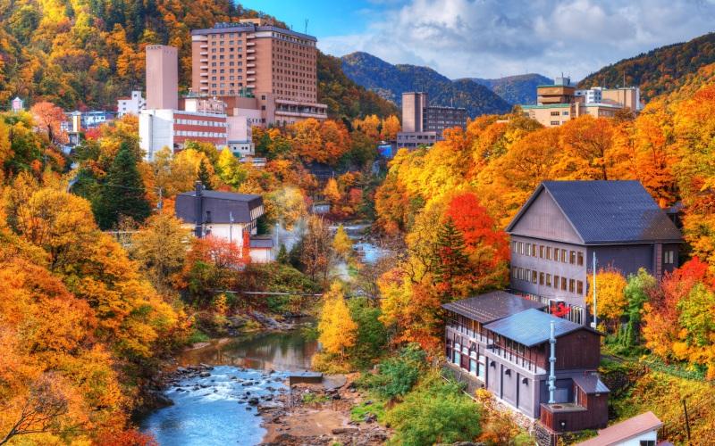 Jozankei is a popular hot spring town in Hokkaido