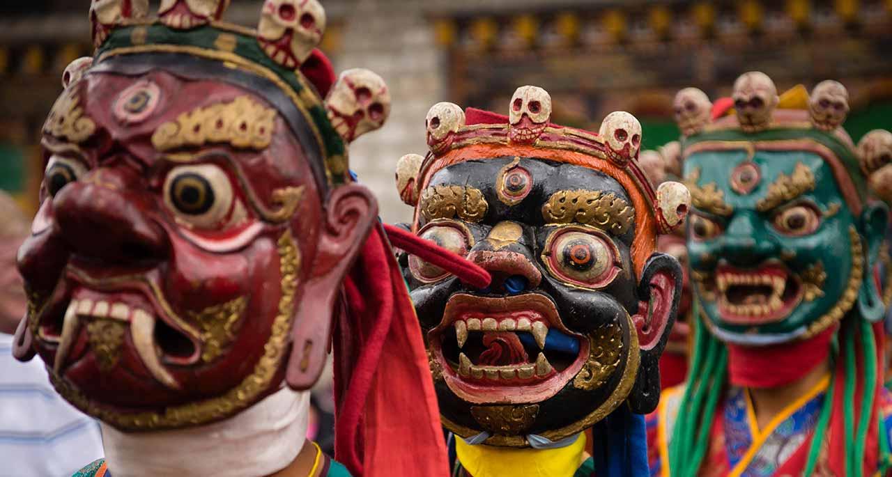 Traditional Tsechu Masks