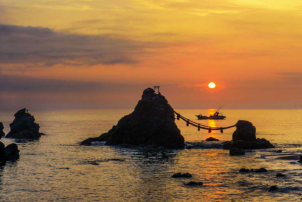Meoto-iwa,the Wedded Rocks of Mie prefecture