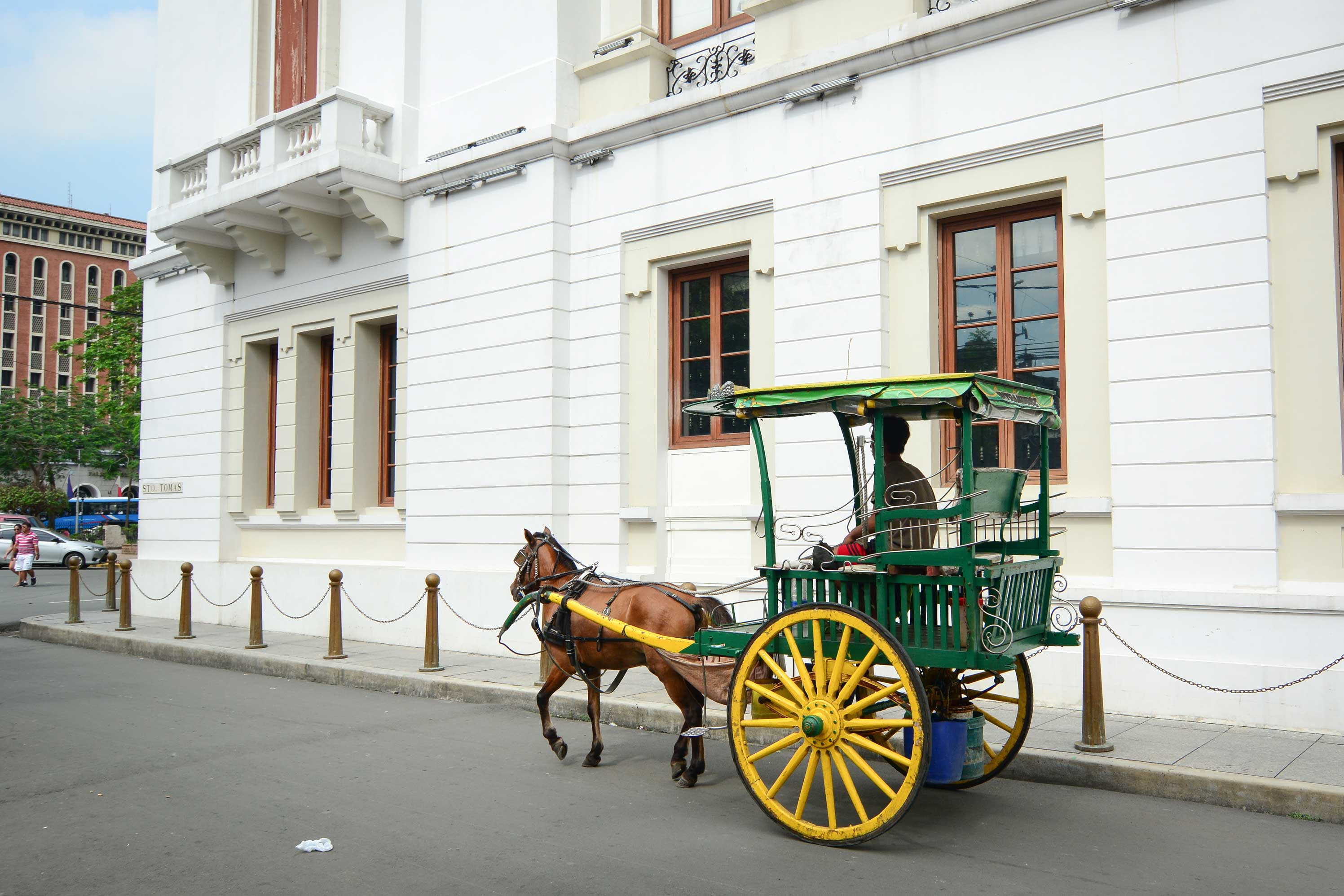 Horse drawn carriage in at Intramuros