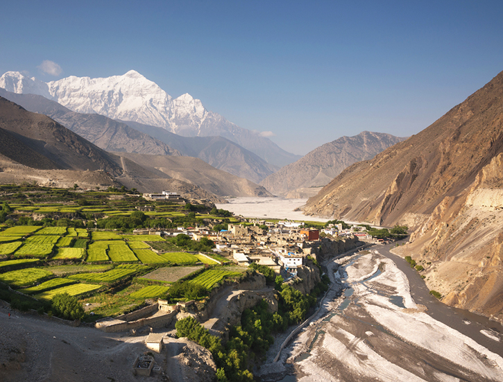 The village of Kagbeni, Upper Mustang, Nepal