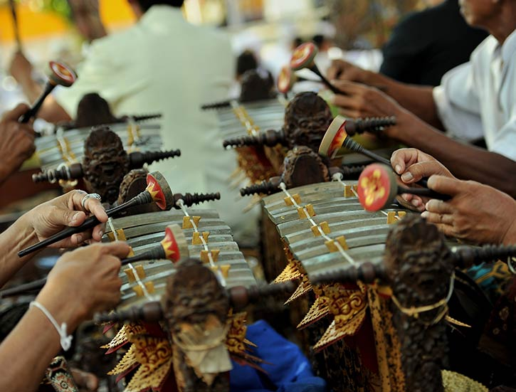 Traditional Gamelan Percussion,Indonesia.