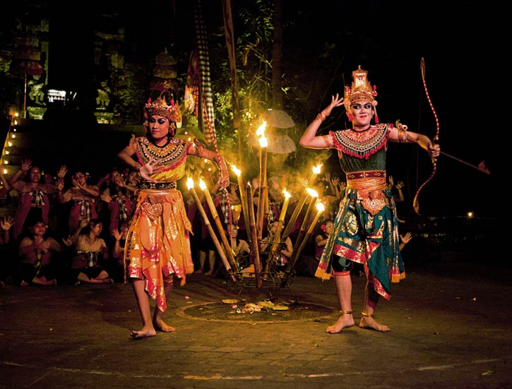 Kecak -also known as Ramayana Monkey Chant- is very popular cultural show on Bali.