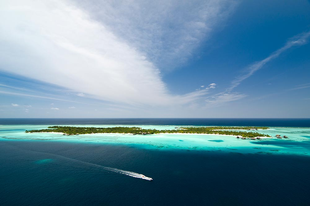 Maldives arial view