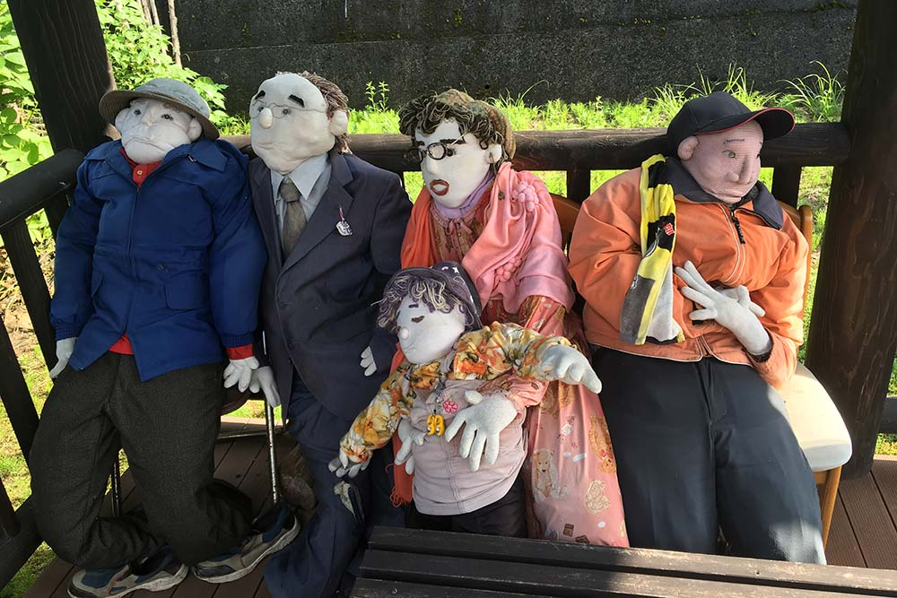 Aren't the scarecrows creepy??