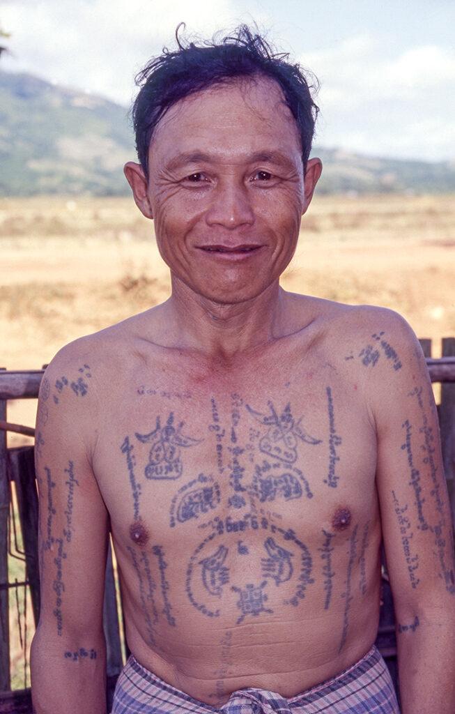 Tattooed man.