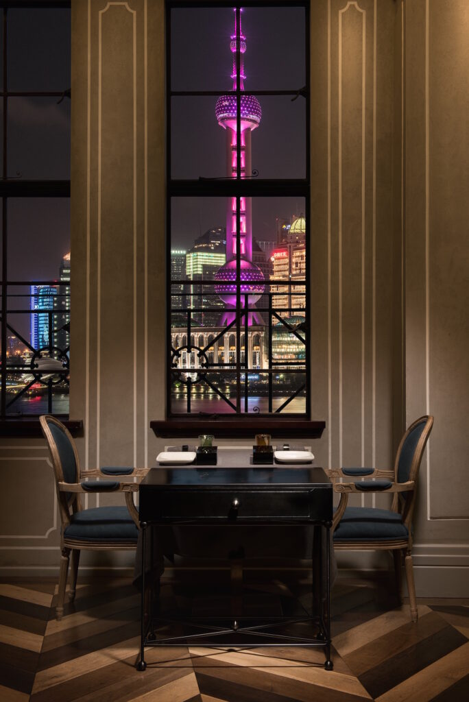 Mr&Mrs Bund INTERIOR-WINDOW TABLE NIGHT VIEW photo by Scott Wright