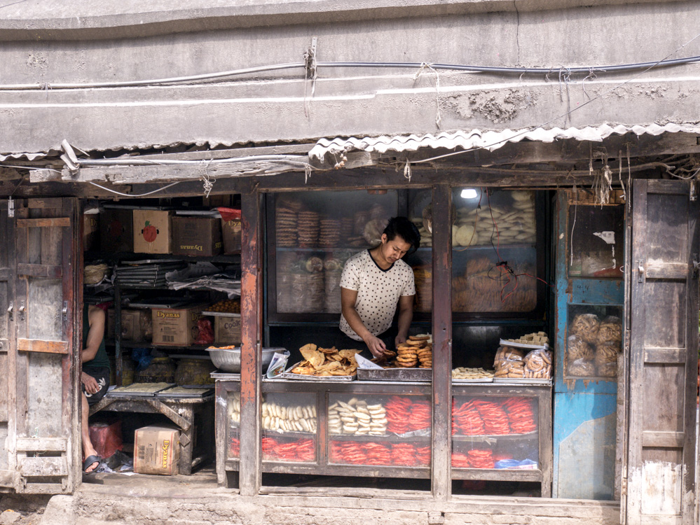 street vendor in Kathmandu market