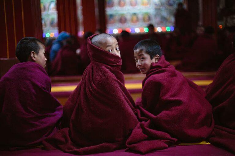 3---Young-Monks-at-Morning-Prayers-at-Tawang-Monastery-