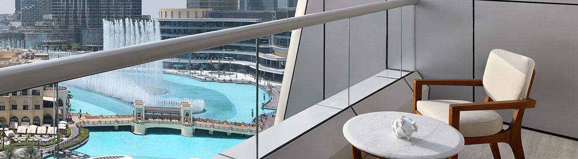 The Address Downtown Dubai suite view.