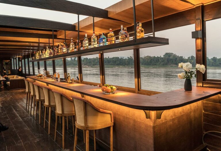 Bar aboard a Mekong Kingdoms cruise.