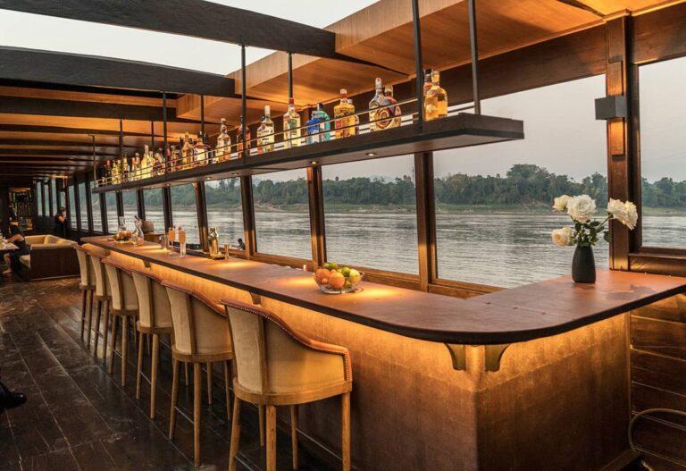 Bar aboard a Mekong Kingdoms cruise.