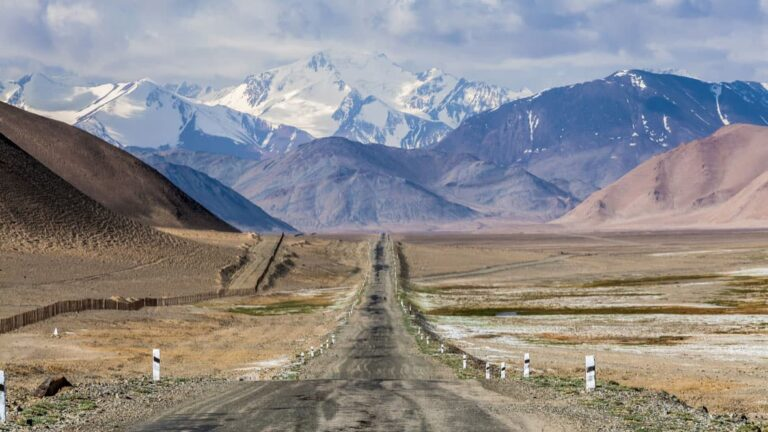 The Pamir Highway is the second highest road in the world.