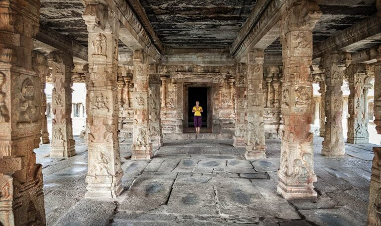 Interior of one of the many Hampi structures.