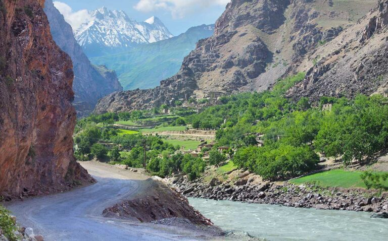Afghanistan across the river from the Pamir Highway.