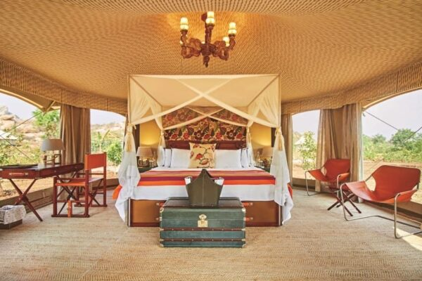 Hampi Ultimate Traveling Camp interior.