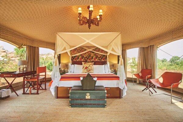 Hampi Ultimate Traveling Camp interior.